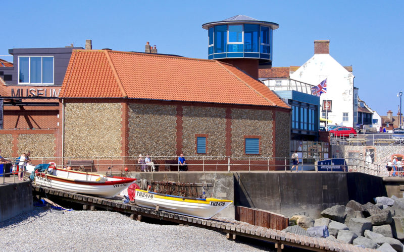 Image of East slipway and Sheringham museum by tim Groves